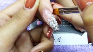 Download Đắp phom gel nail, đắp phom gel lên móng tay, nối móng, gel clear ẩn nhũ xà cừ, đắp phom coffin Video