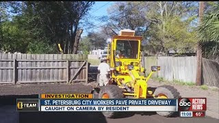 Download City employees caught doing private paving work Video