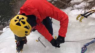 Download Steve House shows you how to make a naked A-thread rappel anchor for descending from an ice route. Video