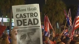 Download Many In U.S. Celebrate Death of Former Cuban President Fidel Castro Video