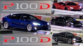 Download QUICKEST Tesla P100D vs THE WORLD - GTR, GT500, HURACAN and GOLF R - Road Test® Video