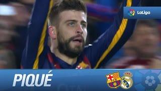 Download Gol de cabeza de Piqué (1-0) en el FC Barcelona - Real Madrid Video