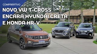 Download Comparativo: Novo VW T-Cross encara Hyundai Creta e Honda HR-V Video