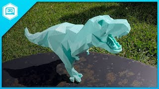 Download Low Poly T-Rex - 3D Printing Time-lapse Video