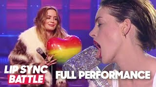 Download Anne Hathaway's Wrecking Ball vs. Emily Blunt's Piece of My Heart | Lip Sync Battle Video
