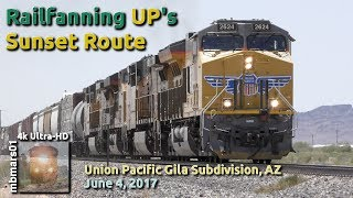 Download [5A][4k] Railfanning UP's Sunset Route, Union Pacific Gila Subdivision, AZ, 06/04/2017 ©mbmars01 Video