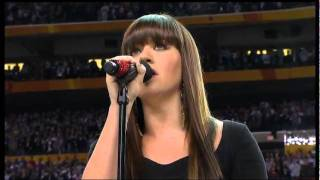 Download Kelly Clarkson sings National Anthem at the Super Bowl XLVI 2012 Video