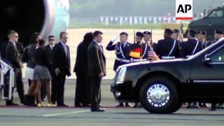 Download US President Obama arrives in Germany after G8 summit Video