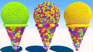 Download Learning Colors with 3D Cone Ice Cream for Kids and Children Video