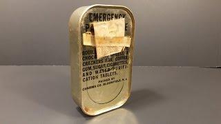Download 1944 WW2 AAF Emergency Parachute Ration MRE Review Survival K Pilot War Candy Cigarette Oldest Food Video