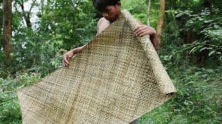 Download Primitive Technology, Making mat from screw-pine in the wild Video