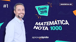 Download 🔴 REVISAO FINAL ENEM 2019 - MATEMÁTICA NOTA MIL - PARTE 1 Video