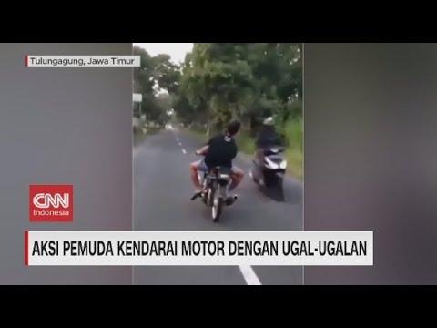 Pemuda Kendarai Motor Ugal-ugalan Ditangkap