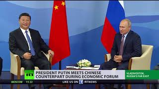 Download Next step in ditching US dollar? Putin and Xi Jinping meet in Eastern Economic Forum Video