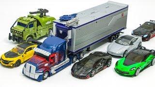 Download Transformers 5 Autobots Optimus Prime Bumblebee Hound Hotrod Drift Cogman Crosshair Car Robot Toys Video