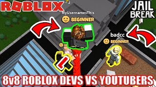 Download BATTLE AGAINST BADCC | 8v8 Roblox Devs vs Youtubers BATTLE Video
