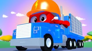 Download The SOLAR Truck! Carl the Super Truck - Car City ! Cars and Trucks Cartoon for kids Video