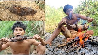 Download Primitive Technology Find food - STONE BAMBOO GET MOUSE Video