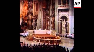 Download SYND 25-12-73 POPE PAUL VI CELEBRATES CHRISTMAS MASS IN ST PETER'S BASILICA IN VATICAN Video