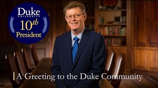 Download A Greeting to the Duke Community Video