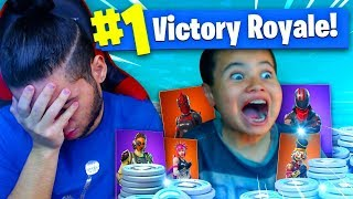 Download 1 KILL = 20,000 VBUCKS FOR MY 9 YEAR OLD BROTHER! 9 YEAR OLD PLAYS SOLO FORTNITE BATTLE ROYALE! Video