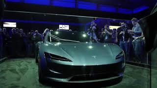 Download tesla next gen roadster - 4K footage of gray display model Video