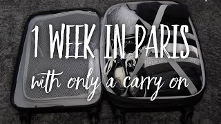 Download Packing for Europe in Only a Carry On - Pack With Me - 1 Week in Paris Video
