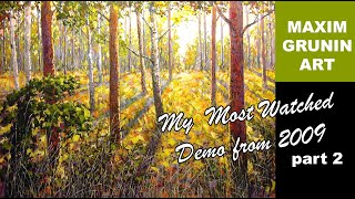 Download Landscape Painting Maxim Grunin Part 2 Video