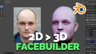Download 2D TO 3D FACE-BUILDER IN BLENDER Video