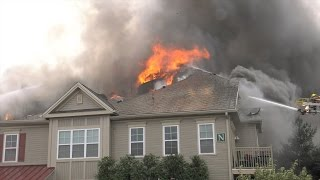 Download 3rd ALARM at apartment building fire in Upper Macungie, PA. Video
