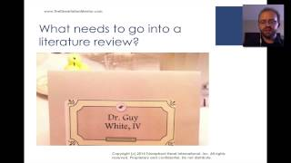 Download How to Write a Literature Review - Dr. Guy E White Video