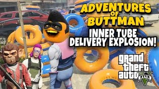 Download Adventures of Buttman #16: Inner Tube Delivery Explosion! (Annoying Orange GTA V) Video
