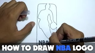 Download How to Draw a Cartoon - NBA Logo (Tutorial Step by Step) Video