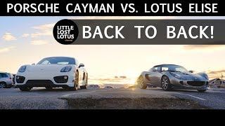 Download Porsche 981 Cayman vs. Lotus Elise | The Cayman Isn't in the Same Class as Lotus | Back to Back Video