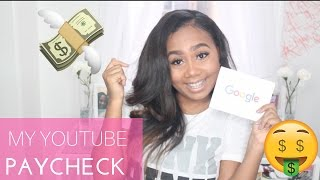 Download My Youtube Paycheck! How Much I Made UPDATE Video