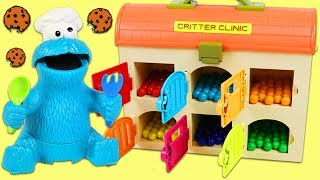 Download LEARN COLORS Feeding Cookie Monster Colorful Treats from Toy Hospital Best Learning Video for Kids! Video