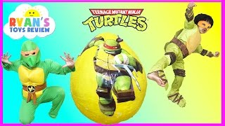 Download Giant Egg Surprise Opening Ninja Turtles Out of the Shadows Toys Kids Video Ryan ToysReview Video