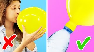 Download 15 BRILLIANT LIFE HACKS WITH BALLOONS Video