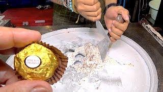 Download ICE CREAM ROLLS | Ferrero Rocher chocolate / Banana Mango / Red ice cream roll / Durian ice cream Video