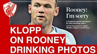 Download Jurgen Klopp on Wayne Rooney drinking photos Video