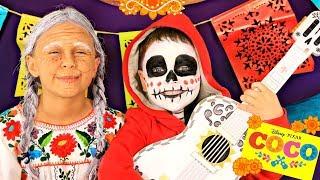 Download Disney Pixar Coco Miguel and Grandma Coco Makeup and Costumes Video