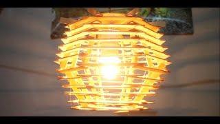 Download Cara Buat Lampu Hias Gantung dari Stik Es Krim jilid 2 Video