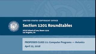 Download Seventh Triennial Section 1201 Rulemaking Hearings: Los Angeles, CA (April 25, 2018) Prop. Class 11 Video