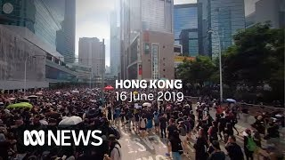 Download 360°: Among the Hong Kong protesters as they fight controversial extradition bill   ABC News Video
