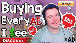 Download Buying Everything Advertised To Me! (Not Clickbait) Video
