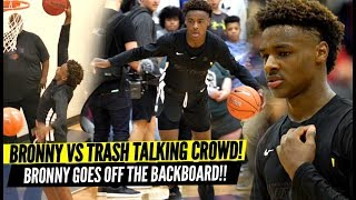 Download Bronny James QUIETS Trash Talking Crowd & Overrated Chants!! Goes OFF THE BACKBOARD!? Video
