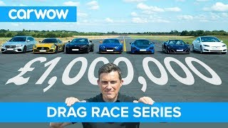 Download £1M DRAG RACE series for our one million subscribers | carwow Video