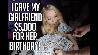 Download I GAVE MY GIRLFRIEND $5000 FOR HER BIRTHDAY! FT. ZOE LAVERNE AND CODY ORLOVE! Video