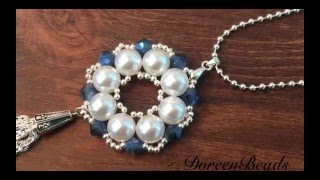 Download Doreenbeads Jewelry Making Tutorial - How to Make Bead Snowflake Pendant Necklace Video