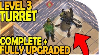Download LEVEL 3 TURRET COMPLETE + FULLY UPGRADED - Last Day On Earth Survival 1.7.10 Update Video
